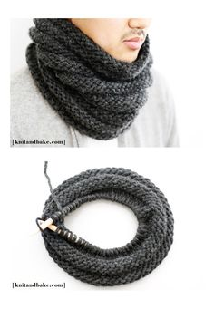 Easy Striped Cowl - free knitting pattern