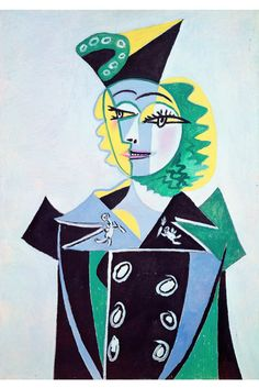 As Picasso 1937 Portrait of Nusch Éluard  painted, she wore a complete look of Elsa Schiaparelli
