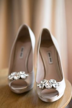 Mui Mui wedding shoes. Bridal shoes from Real Wedding. Follow the link to see more images of this real wedding. http://www.easyweddings.com.au/real-weddings/puppy-love-romantic-wedding-remember-jane-adrian/