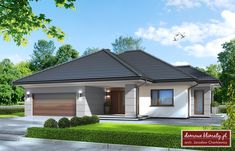 aster realizacje II - Szukaj w Google House Architecture Styles, Architecture Plan, 4 Bedroom House Designs, Affordable House Plans, Beautiful House Plans, Luxury Pools, House Entrance, Small House Design, Home Fashion