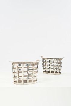 Gio Ponti; Silver Baskets for Arthur Krupp, 1950.