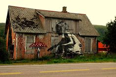 106 of the most beloved Street Art Photos - Year 2011; shown image by Dolk.