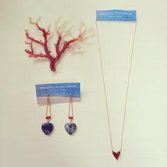 お届けします〜♡♡♡   #amulettooceanjewelry #珊瑚 #サンゴ #coral #ハート #ネックレス #ピアス #ハンドメイド #ジュエリー #handmade  #天然石  #ラピスラズリ #red #ファッション #kochi