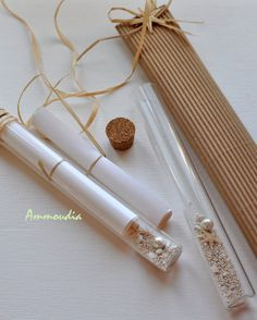 Message in a bottle-Invitation in a glass tube-Destination