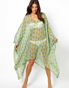 diy sew project. ASOS Scribble Heart Print Cold Shoulder Beach Cover Up