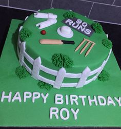 Cricket Birthday Cake With Name Edit