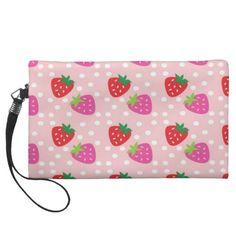 Strawberries Wristlet
