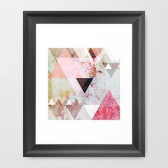 Graphic 3 Framed Art Print by Mareike Böhmer Graphics - $37.00