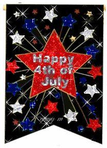 **Card Idea - love the black paper Happy 4th Glitter | Happy 4th of July Glitter Scrap