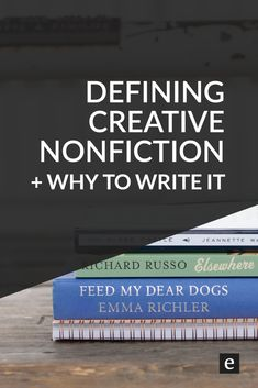What is Creative Nonfiction? | Memoirs, biographies, literary journalism, personal essays—creative nonfiction spans so many great types of writing. Check out this post for a definition and why you would want to write it.