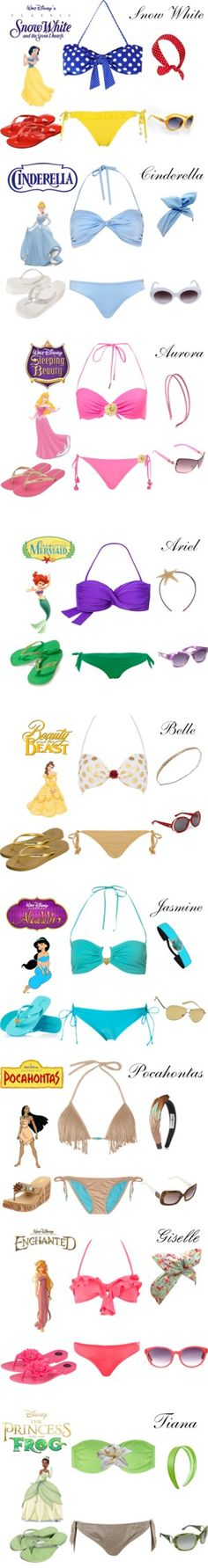 """Disney Inspired Pool Party Collection"" by karla-cristina on Polyvore"