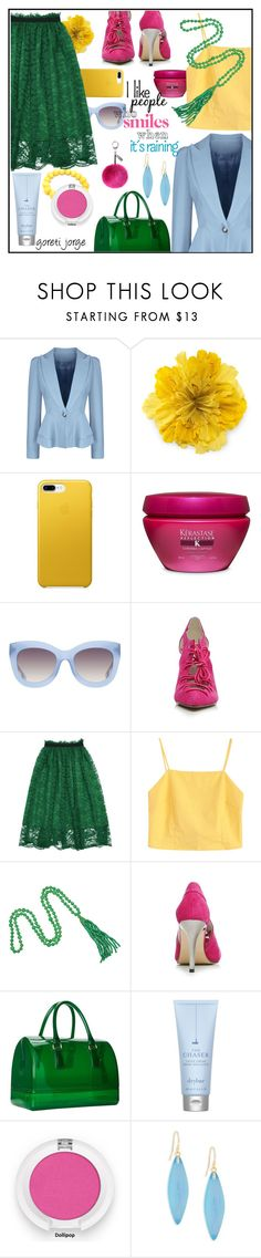 """""""Minimalist  colorful Style -  """"Zaful"""""""" by goreti ❤ liked on Polyvore featuring WithChic, Gucci, Kérastase, Alice + Olivia, Kenneth Jay Lane, Furla, Drybar, Alexis Bittar and Helen Moore"""