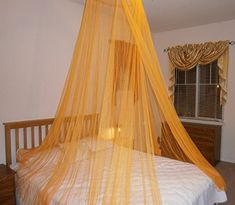 OctoRose ® Round Hoop Bed Canopy Mosquito Net Fit Crib, Twin, Full, Queen, King (Orange) * You can find more details by visiting the image link from Amazon.com
