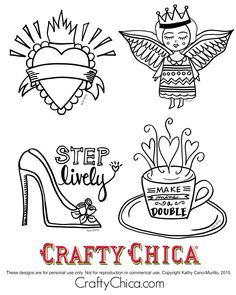 Free embroidery patterns (or for coloring!)