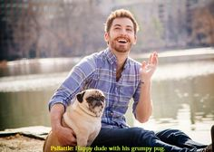 photoshop-battles:    Photoshop Battles: Happy dude with his grumpy pug. | cr