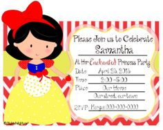FREE PRINTABLES / Snow White Party Invitation
