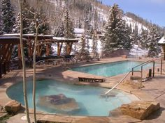 Unusual Offerings That Make One Vail Hotel Stand Out: The mountainside pool at Antlers