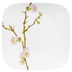 Corelle Cherry Blossom Dinner Plate - Square Round
