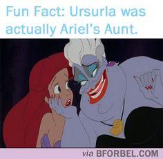 b for bel: Fun Fact Fridays: Ursurla was actually Ariel's Aunt! #disney #LittleMermaid
