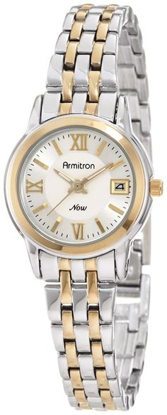 Armitron Women's 75/4090SVTT Round Two-Tone Bracelet Day Date Function Watch ** You can get more details by clicking on the image.
