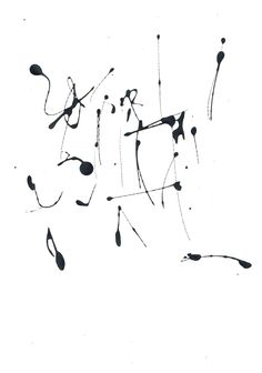 Asemic abstract - by mila blau