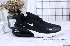1f576af035766f Nike Jacquard Air Max 270 Flyknit Half-palm Cushion Black And White New  Style