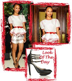 I love ZoeSaldana - the girl can dress! Of course with that body, she can probably pull of anything. Recently she rocked aPrabal Gurung top and shorts with amazing Nicholas Kirkwood pumps. I'm in LOVE!