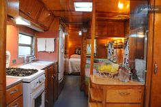 Incredible, restored 1951 Royal Spartanette with vintage 1950s furnishings available as guesthouse  (airbnb)