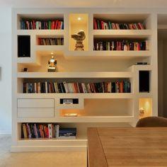 Ideeën kasten woonkamer met vaste bank on Pinterest  Rotterdam, Met ...