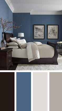 Modern Master Bedroom Paint Color Best Of 36 Modern Blue Master Bedroom Ideas Masterbedroom Blue Master Bedroom, Bedroom Orange, Master Bedroom Design, Home Decor Bedroom, Modern Bedroom, Contemporary Bedroom, Bedroom Small, Master Suite, Bedroom Rustic