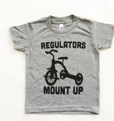 Funny Baby Onesies. Kids tshirt. Baby Boy clothes. Regulators Mount Up Grey Tri blend toddler shirt. American apparel kids tee. - http://www.babies-clothes.info/funny-baby-onesies-kids-tshirt-baby-boy-clothes-regulators-mount-up-grey-tri-blend-toddler-shirt-american-apparel-kids-tee.html