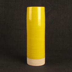 Les Guimards Large Cylinder Vase, Yellow £99.00