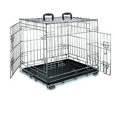 Special Offers - Premium Stainless Steel Folding Double-Door Dog Crate Weather-proof Portable Pet Kennel (24 Inches) - In stock & Free Shipping. You can save more money! Check It (October 11 2016 at 09:58PM) >> http://dogcollarusa.net/premium-stainless-steel-folding-double-door-dog-crate-weather-proof-portable-pet-kennel-24-inches/