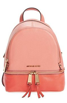 MICHAEL Michael Kors 'Extra Small Rhea' Colorblock Leather Backpack