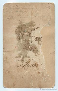 Fotografía antigua: RETRATO. PILAR, AMPARITO Y MARINA. ARTURO FRANCO. CALLE JABONERIAS, 6. MURCIA. 21,5 X 13,3 CMS. - Foto 2 - 53958337