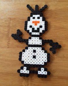 Olaf Frozen perler beads by ThePinkTurtleLady