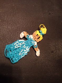Cinderella rainbow loom charm! How adorable! Wish I had the patience to do this..