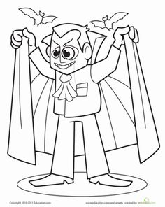 Count Dracula Coloring Page