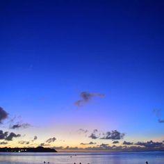 【koro_photo】さんのInstagramをピンしています。 《一番星と海! * * #グアム #海 #タモンビーチ #Guam#夜景 #一番星》