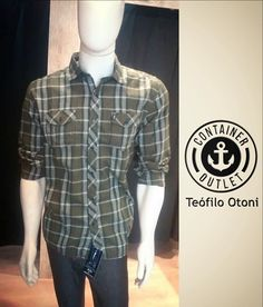 Se liga nos preços: Camisa Xadrez 79,99 Calça jeans 49,99 Container Outelt Teó! #vemprocontainer #containeroutlet