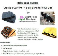 Dog belly band pattern diy pdf sewing pattern make it yourself dog belly band pattern diy pdf sewing pattern make it yourself any fandeluxe Gallery