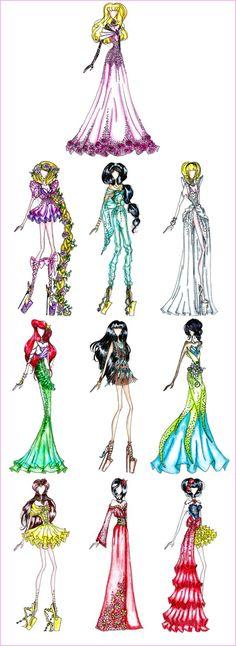 Disney Princess Fashion by AlirizaDesign