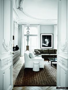 white with herringbone floors