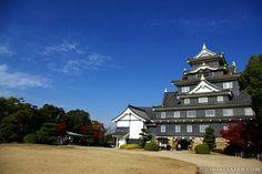 岡山県岡山城:Okayama Castle on a sunny day in November 2012.