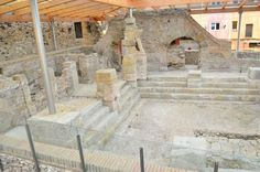 remains of the Roman baths