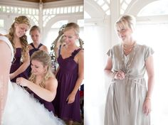 Mike and Abby - bride getting ready in Cinderella gazebo with bridesmaids and  mom, photo courtesy of Jessica Simons Photography