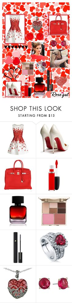 """Red roses"" by badass-gothybiatch ❤ liked on Polyvore featuring Christian Louboutin, Hermès, MAC Cosmetics, The Collection by Phuong Dang, Stila, Lancôme, BERRICLE, Lord & Taylor, Emma Watson and Vera Bradley"