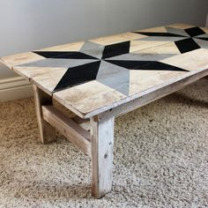 This farmhouse style coffee table is constructed of hard wood and hand painted in a country white finish, distressed in a light grey stain. The...