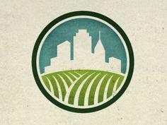 Logo / Dribbble - Urban Farming Identity by Steve Hamaker Logos, Typography Logo, Graphic Design Typography, Logo Agriculture, Urban Agriculture, Identity Design, Logo Design, Identity Branding, Badges