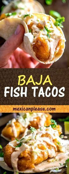 It's tough to beat fried fish tacos drenched in a fiery Chipotle Crema. Add some pickled cabbage and you've officially entered the realm of Baja Fish Tacos. I used mahi mahi for this batch but there's lots of leeway on the fish -- cod, tilapia and catfish Cod Fish Tacos, Fried Fish Tacos, Tilapia Tacos, Fried Tilapia, Mahi Mahi Fish Tacos, Fish Taco Slaw, Baja Fish Tacos Sauce, Baja Shrimp Tacos, Fish Burrito